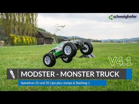 Modster V4.1 - Brushless Monster Truck RTR - Speedrun / Jumps / Bashing