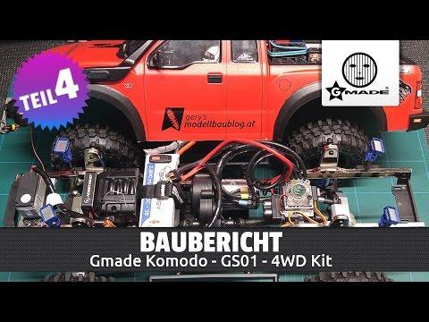Gmade Komodo 4WD Kit - Baubericht Teil 4/4 (Deutsch / HD)