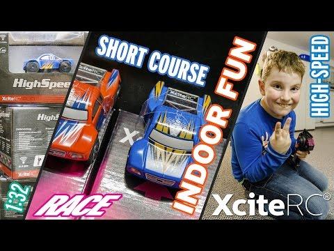 Highspeed Short Course Trucks im Miniformat 1:32 - Unboxing & Race