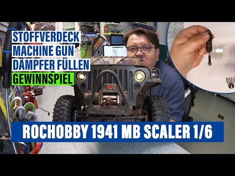 💥 RocHobby 1941 MB Scaler 1/6   🎁 Softtop Verdeck & Machine Gun   🔧 Stockstoßdämpfer verbessern