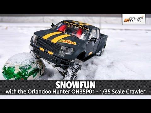 Snowfun with the Orlandoo Hunter OH35P01 - Mini Scale Crawler 1/35