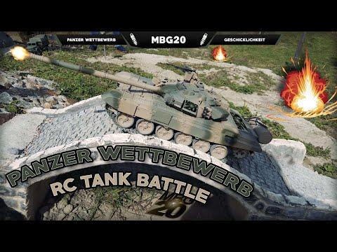 PANZER BATTLE | Geschicklichkeits Wettbewerb mit ferngesteuerten Panzern [ 4K | 2160p50 ]