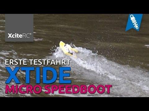 Xtide Micro Rennboot / Speedboot - Erste Testfahrt