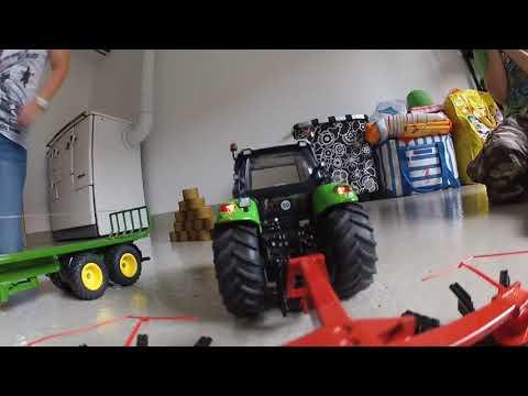 Siku Controll 32 - MAN Tieflader & DEUTZ- FAHR Agrotron in Action