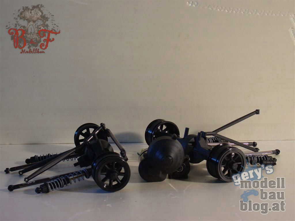 SCX10 Dingo Achsen mit HPI Felgen