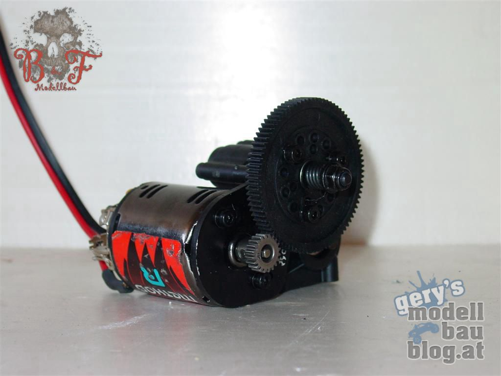 Axialgetriebe mit 55t Motor