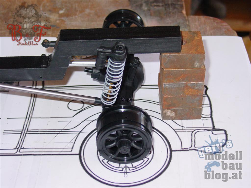 Ford F-150 - Grobe Positionierung der Bauteile