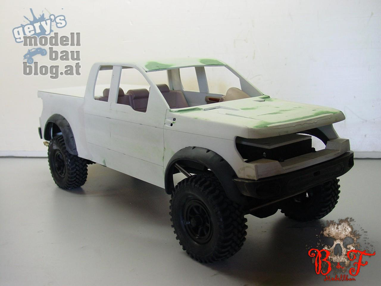teil 4 eigenbau projekt ford f 150 raptor die letzten karosseriearbeiten gerys rc. Black Bedroom Furniture Sets. Home Design Ideas