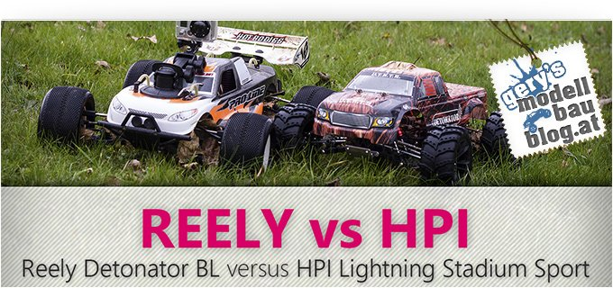REELY Detonator Brushless 4WD vs HPI Hot Bodies - Lightning Stadium Sport