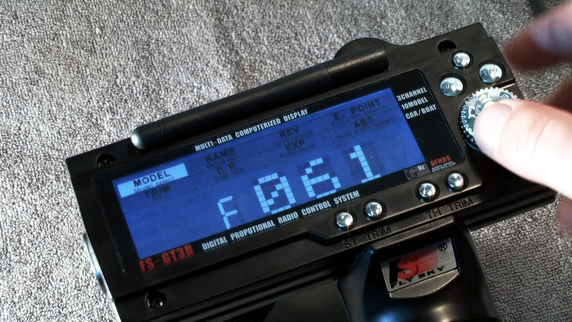 Flysky GT3B Hack - Fernsteuerung einschalten - Kalibrierung