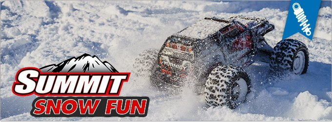 Traxxas Summit - Action in the Snow