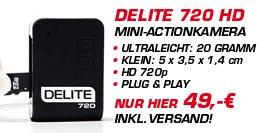 SONDERAKTION für meine Leser: DELITE 720 HD Mini-Actioncam für nur 49,- € inkl. Versand!