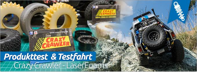 Produkttest Crazy Crawler LaserFoams mit anschließender Testfahrt