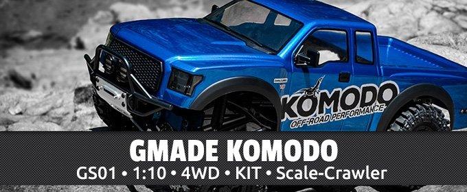 Gmade Komodo Kit 1:10 Scale-Crawler eingetroffen