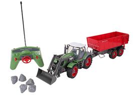 Traktor mit Frontlader & Anhänger