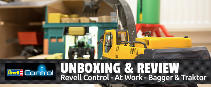 Unboxing & Review: Revell Control - At Work - Bagger & Traktor