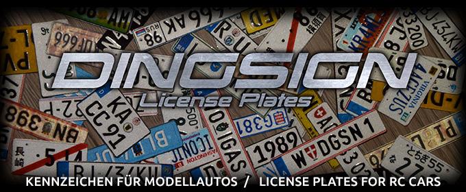 KFZ-Kennzeichen für Modellautos - DINGSIGN