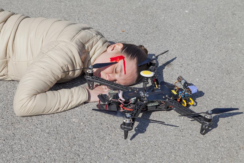 Drohnen Unfall
