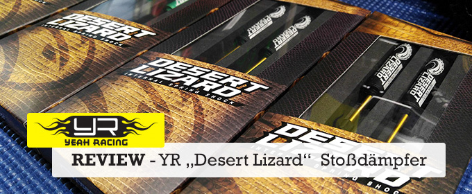 "Review: Yeah Racing ""Desert Lizard"" - Two Stage Stoßdämpfer für Crawler"