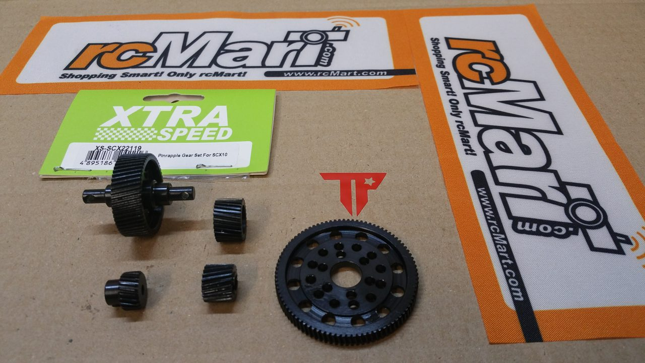 Pinrapple Gear Set SCX 10 / Nr: XS-SCX22119