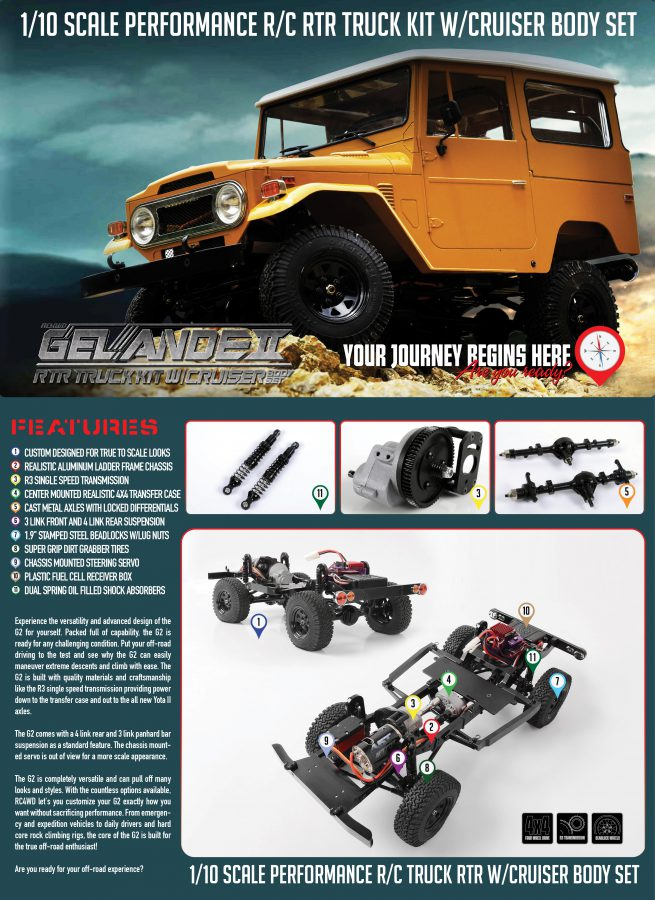 RC4WD Gelande II RTR Truck Kit w/Cruiser Body Set #Z-RTR0029