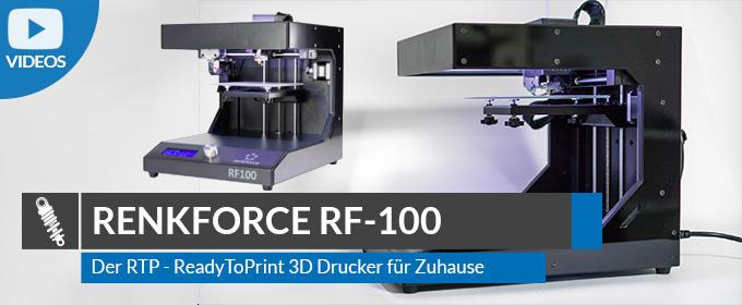 Renkforce RF100 – 3D Drucker für Zuhause