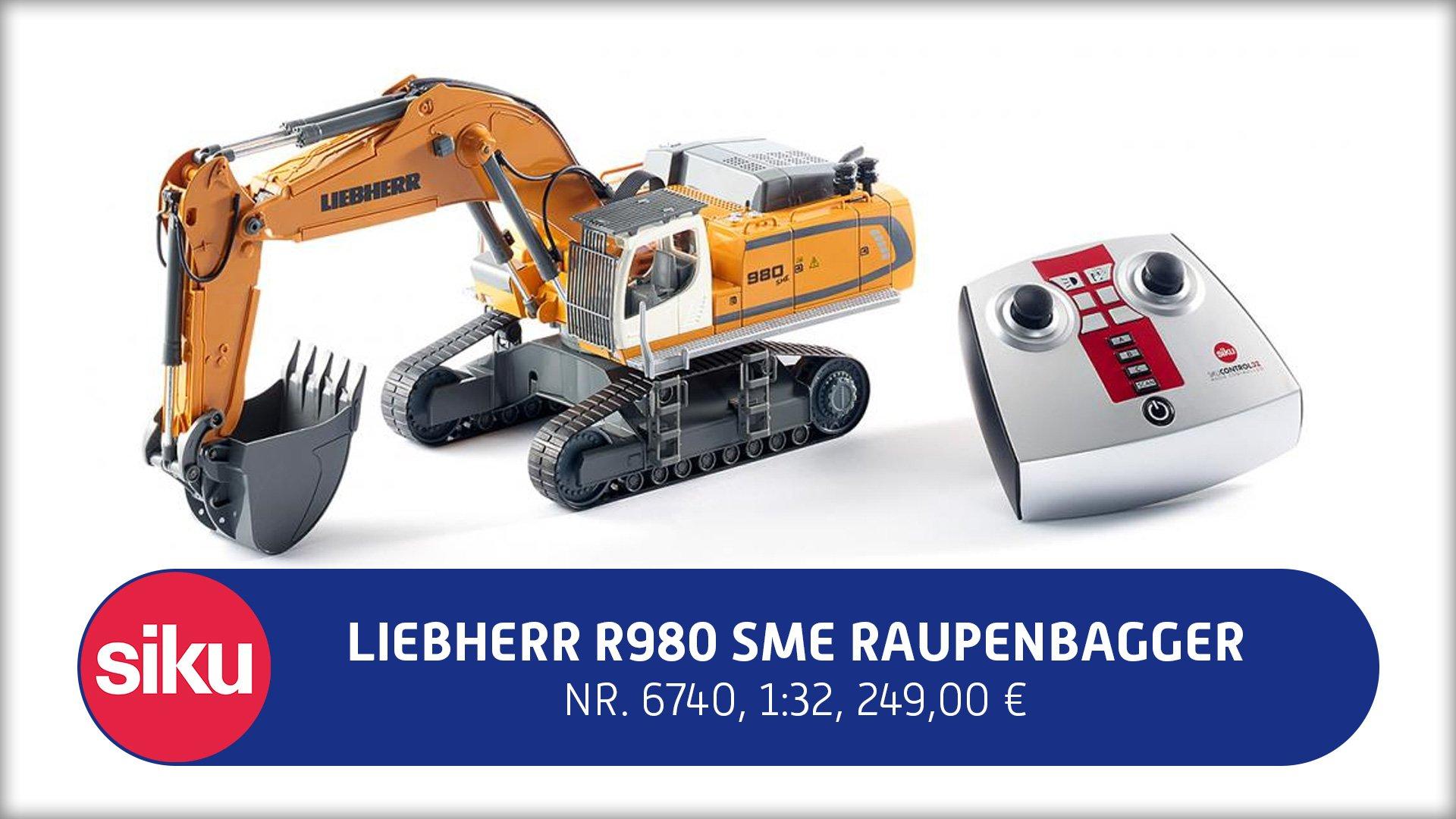 Siku 6740 - Liebherr R980 SME Raupenbagger Fahrzeuge