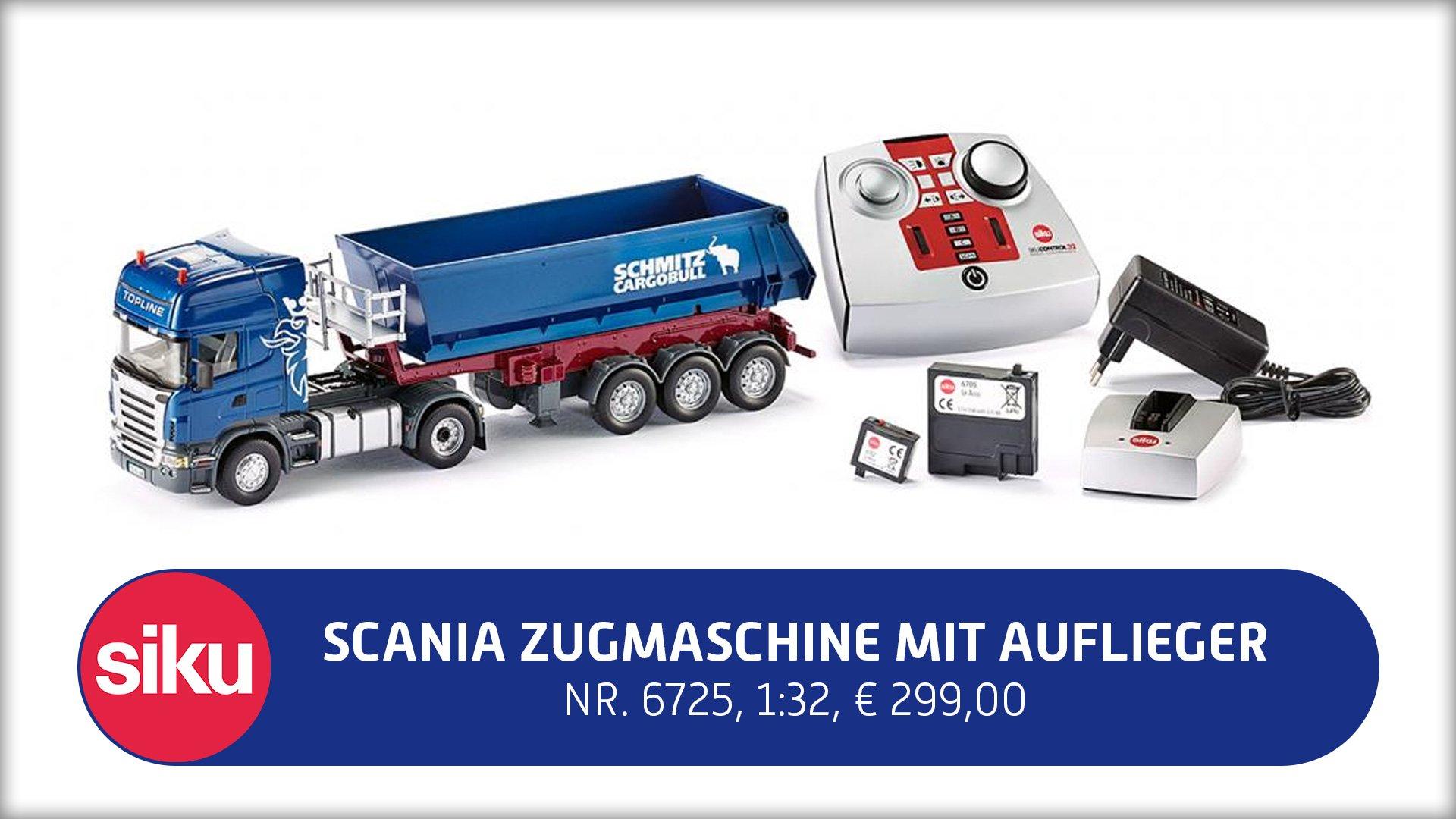 Scania Zugmaschine mit Kippsattelauflieger, Nr. 6725, 1:32, 299,00 €*