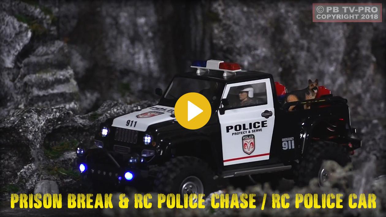 Gefängnisausbruch inkl. Verfolgungsjagd mit ferngesteuertem Polizeiauto